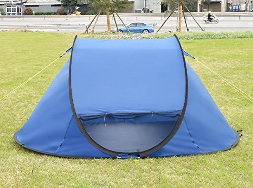 """K&A Company 2-3 Persons Waterproof Camping Tent with Carry Bag New Outdoor 210D Oxford 94.5"""" x 55"""" x 43.3"""" Dark Blue by K&A Company"""