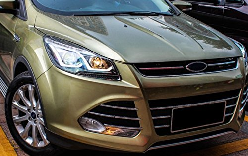 GOWE Car Styling for Ford Kuga Headlights 2013-2016 Escape LED Headlight DRL Bi Xenon Lens High Low Beam Parking Fog Lamp Color Temperature:4300K Wattage:55W 0