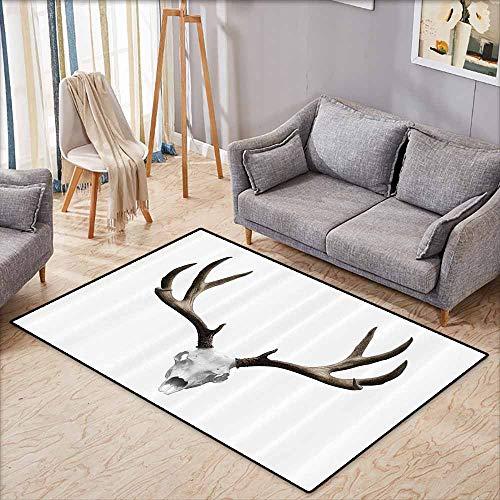 Inner Door Rug Antlers Decor A Deer Skull