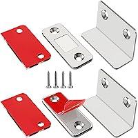 Jiayi Magneetsluiter, 2 stuks, ultradun, L-vormige deurmagneten, zelfklevend, voor meubels, kastmagneten, sterke…