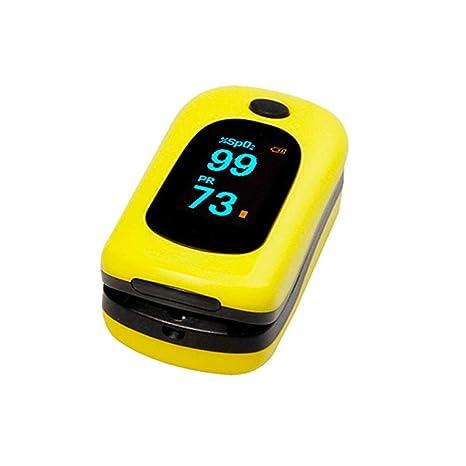 Oxímetro Medidor de saturación de oxígeno Pulso con Pinza de Dedo ZQ ...