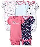 Gerber Baby Girls' 5-Pack Variety Onesies Bodysuits, Pink Princess, 0-3 Months