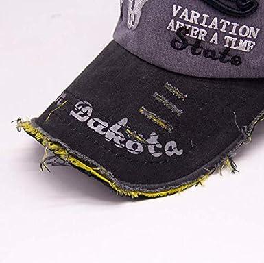 Wicemoon 1x Casquillo Retro del Algod/ón de La Letra del Sombrero de Vaquero de La Gorra de B/éisbol del Hombre de La Manera Los 55-61cm