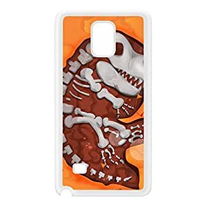 Dinosaur Dig White Silicon Rubber Case for Galaxy Note 4 by Nick Greenaway + FREE Crystal Clear Screen Protector