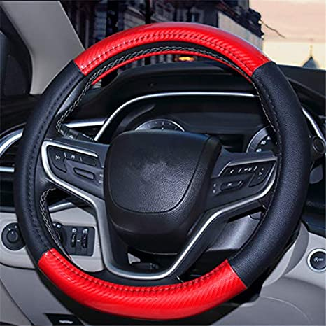 E Mayco Bell 2018 Ethnic Style Coarse Flax Cloth Automotive Steering Wheel Cover Anti Slip and Sweat Absorption Auto Car Wrap Cover