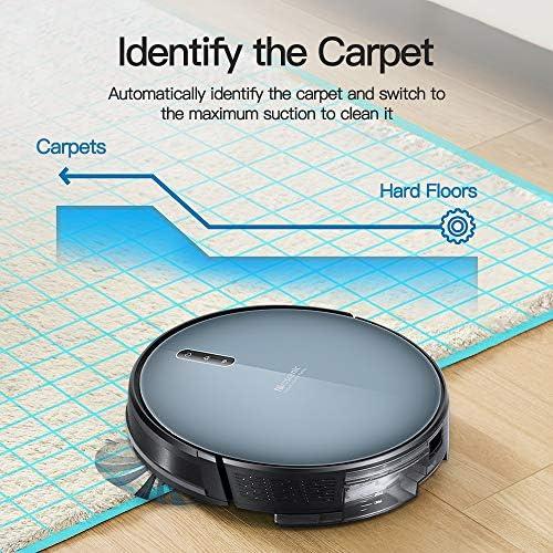 Proscenic Aspirateur Robot 830T, Connecté Wi-Fi et Alexa, Nettoyeur et Laveur 3 en 1, Nettoyage Efficace sur Programmation, Aspiration Puissante Sur Tapis et Sol - Home Robots