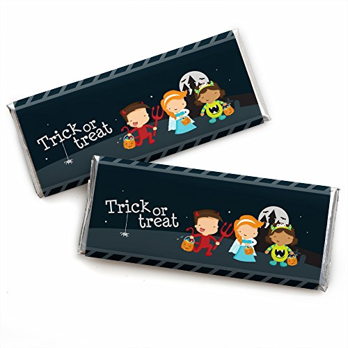 Trick or Treat - Candy Bar Wrappers Halloween Party Favors - Set of 24]()