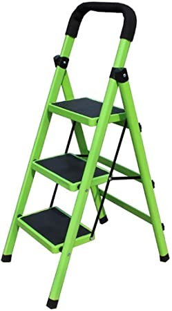 Yxsd 3 Pasos de Escalera Plegable Inicio Escalera Plegable, Metal portátil Ancho del Pedal Escalera, Cocina Oficina Garaje Escalera: Amazon.es: Hogar