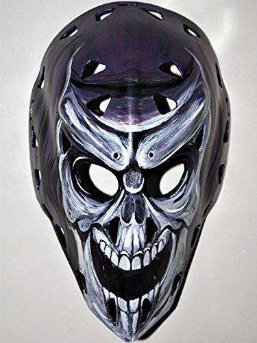 1:1 Custom Vintage Fiberglass Roller NHL Ice Hockey Goalie Mask Helmet Mike Liut HO01 am