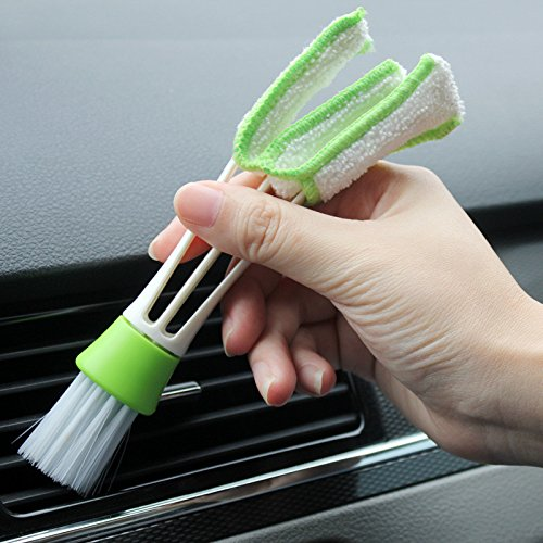 AnimalMall - Car Washer Microfiber Car Cleaning Brush for Air-Condition Cleaner Computer Clean Tools Blinds Duster Car Care Detailing 1 PCs