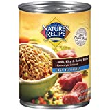 Nature's Recipe Canned Dog Food for Adult Dog, Easy to Digest Lamb Rice and Barley Recipe, 13.2 Ounce Cans, 12 Count
