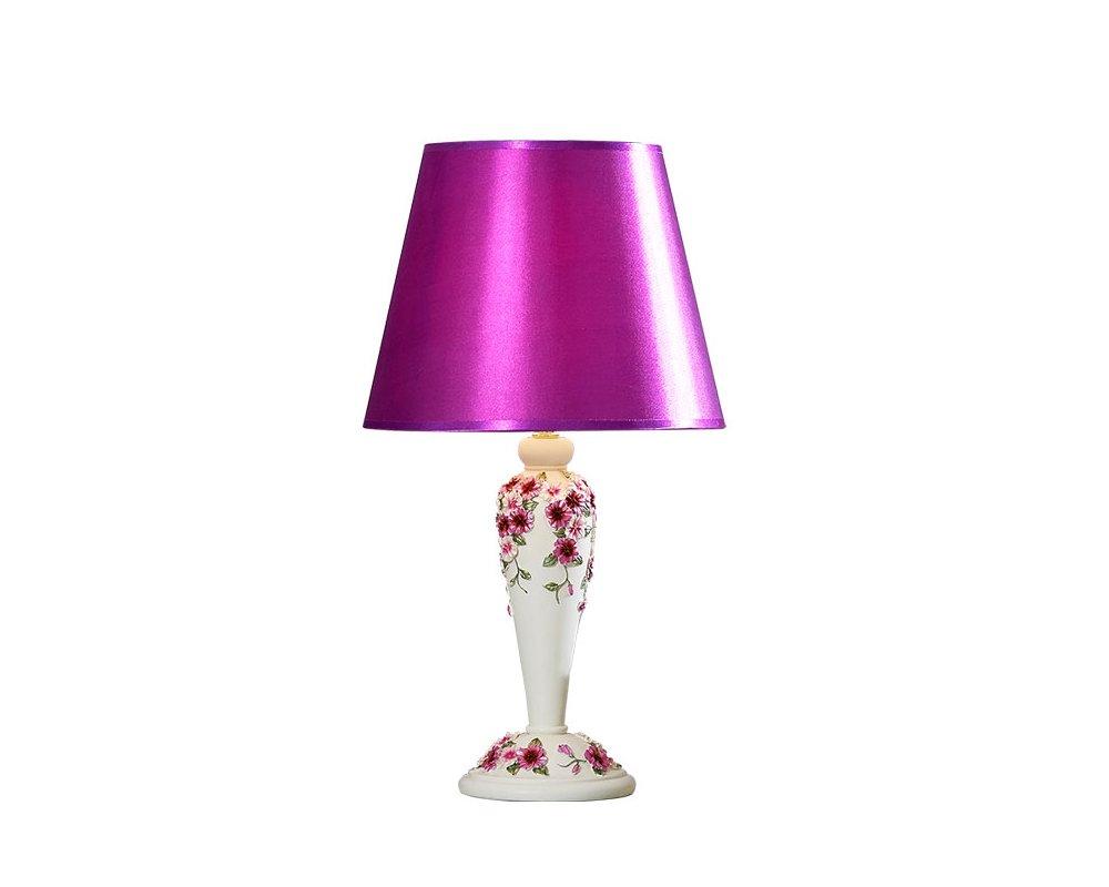 Flashing Europäischen Stil idyllischen Harz geschnitzten Schlafzimmer Studie Raum Wohnzimmer Hochzeitskleid Tischlampe (Farbe   lila)