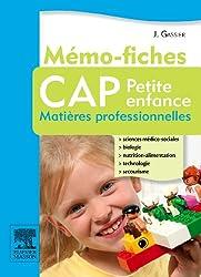 Mémo-fiches CAP Petite enfance