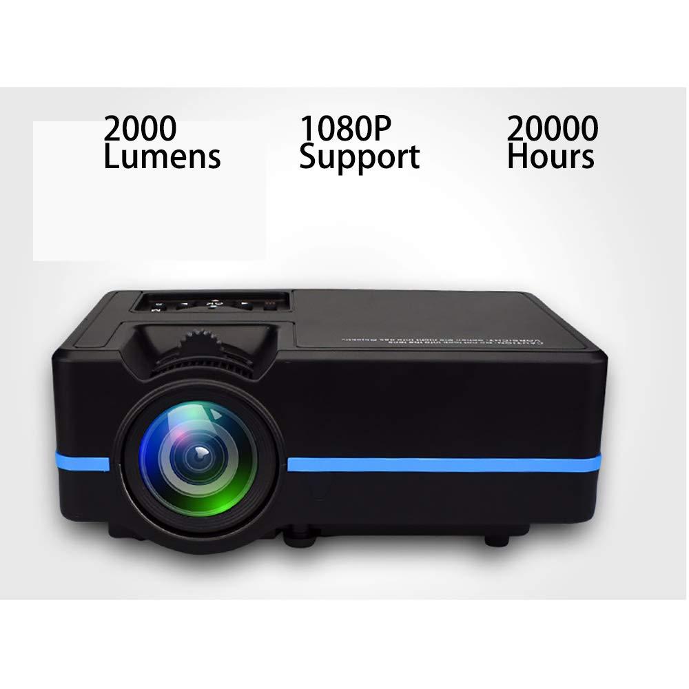 Proyector Proyector de Cine Soporte 1080p 2000 lúmenes 20000 ...