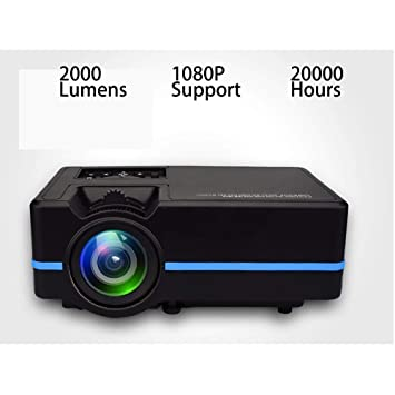 Proyector Proyector de Cine Soporte 1080p 2000 lúmenes 20000 Horas ...