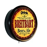 New 10x3 Inch Lighted Wall Sign, Beer Ale Brewery, Home Bar Brew Wall Sign Light, Black plastic frame with a clear cover, great gift idea for that hard to buy for loved one or for yourself