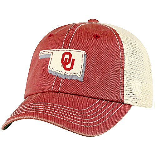 - Top of the World Oklahoma Sooners Men's Mesh-Back Hat Icon, Cardinal, Adjustable