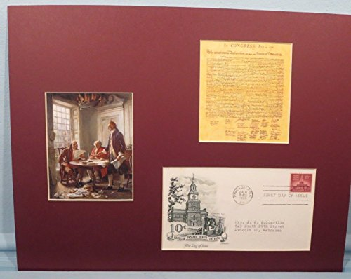 (The Declaration of Independence plus First day Cover , Thomas Jefferson writes )