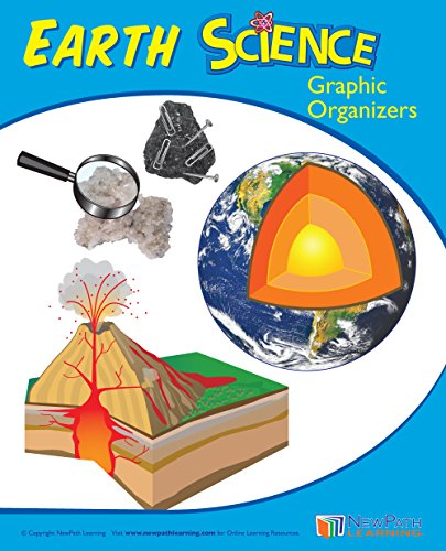 Middle School Earth Science Graphic Organizer Workbook, Set/10 - Visual Outlines and Assessments for 25 Key Science Topics (53 pp EA)