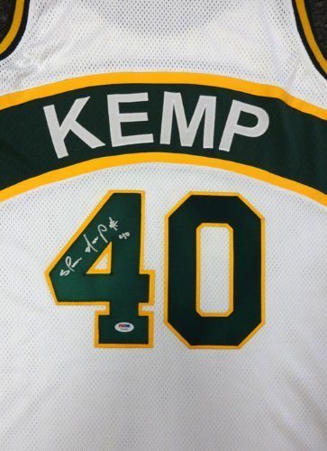 ed Seattle Sonics White Jersey PSA/DNA (Autographed Authentic Nba Basketball Jersey)