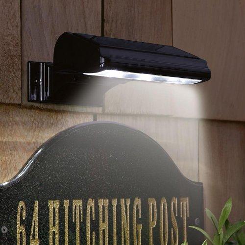 Whitehall Products Standard Wall Illuminator Solar Address Lamp, Black