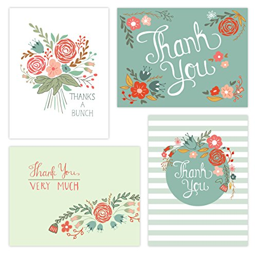 One Jade Lane - Floral Festival Thank You Cards (Self-mailer) POSTCARDS