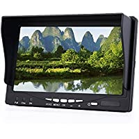 LCD Monitor,T-RS2000A 7inch Fpv Display Monitor 5.8GHz 32CH for Racer 250 QAV250 ZMR250 Drone LCD Screen Ratio 150° Visual Angle