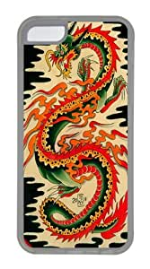 Dragon 33 TPU Silicone Case Cover for iPhone 5C Transparent