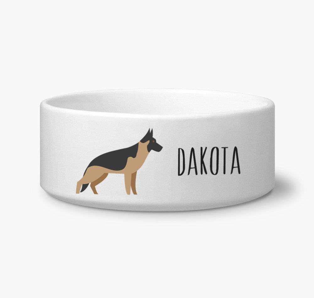 German Shepherd Personalize Custom Name Dog Bowl 6