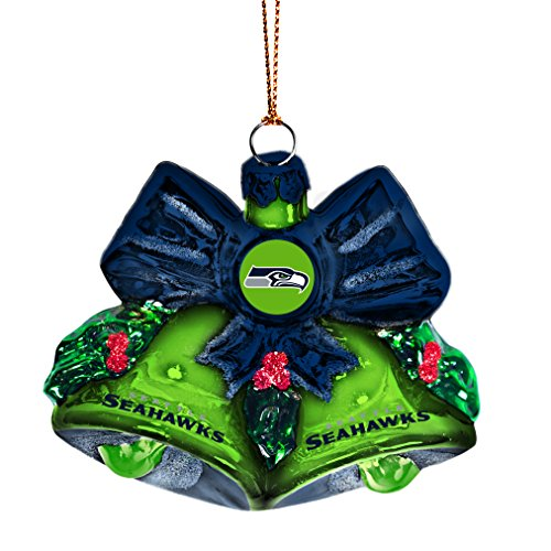 NFL Seattle Seahawks Glitter Bells