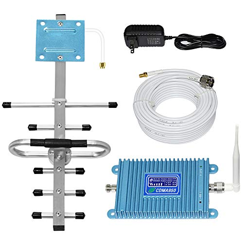 Home Cell Phone Signal Booster for ATT 850MHz Band 5 FDD 2G 3G Mobile Signal Repeater Amplifier Including Outdoor Directional Yagi and Indoor Omni-Directional Whip Antenna Kits