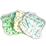 Luxury Reusable Dog Diapers (3-Pack) - Small [NEW Pattern] Durable Dog Wraps Nappies for Both Male and Female Dogs, Cats, Rabbits and Other Small Animals by Pet Magasin (Trending, Small)