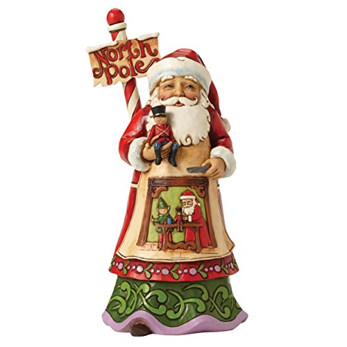 Jim Shore Heartwood Creek JS HWC Fig Santa North Pole Wo Figurine