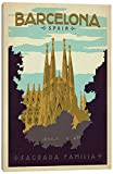 iCanvasART Barcelona, Spain (Sagrada Familia) Canvas Print, 40'' x 1.5'' x 26''