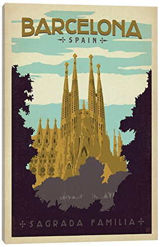 iCanvasART Barcelona, Spain (Sagrada Familia) Canvas Print, 40'' x 1.5'' x 26'' by iCanvasART