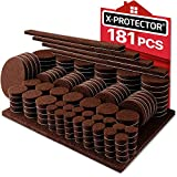 Tools & Hardware : X-PROTECTOR Premium Ultra Large Pack Felt Furniture Pads 181 Piece! Felt Pads Furniture Feet All Sizes - Your Best Wood Floor Protectors. Protect Your Hardwood Flooring with 100% Satisfaction!