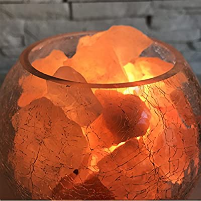 Crystal salt lamp Himalayan European decorative small table lamp creative fashion bedroom warm wedding night light bed