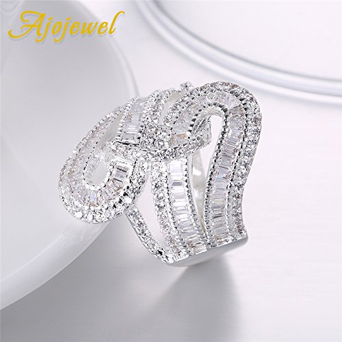 Slyq Jewelry Irregular Jewelry Micro Pave CZ Ring cz engagement ring