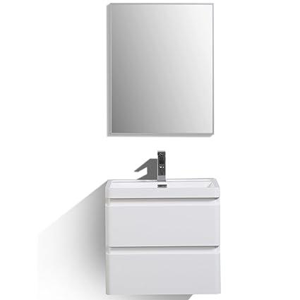 Eviva Evvn600 24wh Wm Bathroom Vanities 24 High Gloss White