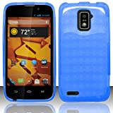 zte warp 4g boost mobile - 3-in-1 Bundle For ZTE Warp 4G - Soft Rubber TPU GEL Skin Candy Case (Blue)+ICE-CLEAR(TM) Screen Protector Shield(Ultra Clear)+Touch Screen Stylus