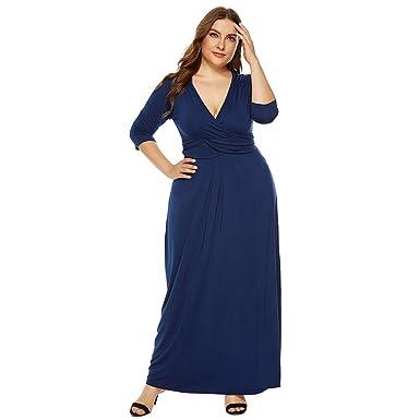 Vestido Largo Mujer Talla Grande Vestido de Mujer Cóctel ...