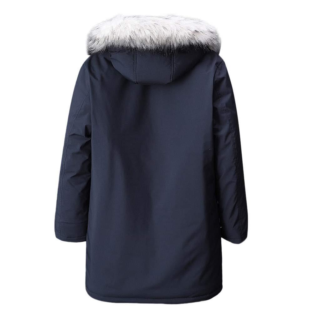 YanHoo Abrigos Hombre Invierno Ropa de Invierno para Hombres, más Fertilizante XL, Chaqueta de algodón con Capucha de algodón cálido y Grueso Bolsillo con ...