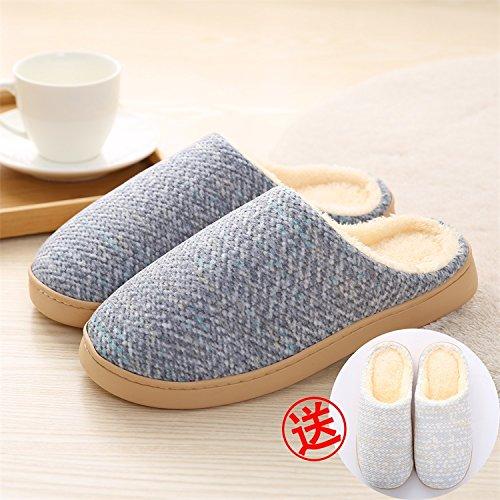 LaxBa Femmes Hommes Chaussures Slipper antiglisse intérieur bleu foncé Acheter Homme4243+The Girl3940