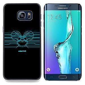 "Qstar Arte & diseño plástico duro Fundas Cover Cubre Hard Case Cover para Samsung Galaxy S6 Edge Plus / S6 Edge+ G928 (Azul Deadmaus"")"