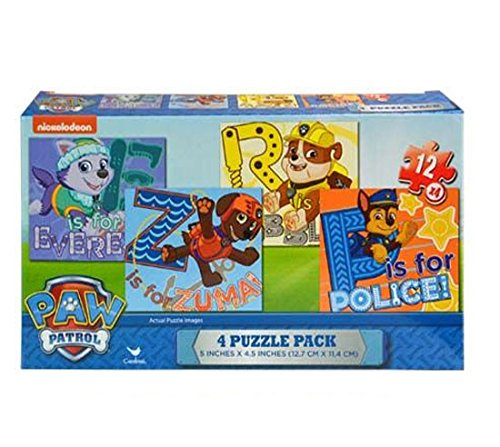 (Nickelodeon Paw Patrol 4 Puzzle Value Pack Collection! Featuring Chase, Rubble, Zuma & Everst!)