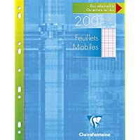 Clairefontaine - 1751 - Feuillets Mobiles - Grands Carreaux Seyes - 90 g - 200 Pages