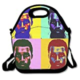 Black Kanye West Unisex Lunch Tote For Woman Man Kid