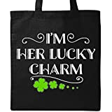Inktastic - I'm Her Lucky Charm-St. Patricks Day couple Tote Bag Black 2eee1