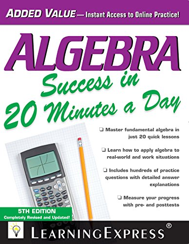 Algebra Success in 20 Minutes a Day (5th 2014) [LearningExpress]