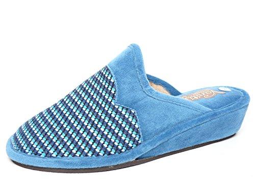 Color Casa Azafata Zapatilla Vanity 26 Azul 59 Mujer Suapel 6AwqwfI